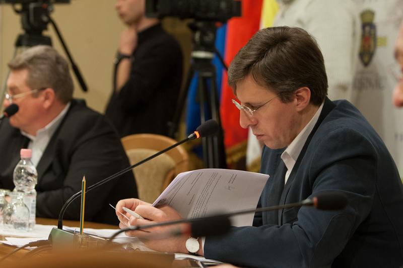 Dorin Chirtoacă este primarul Chișinăului din anul 2007 FOTO. Sandu Tarlev