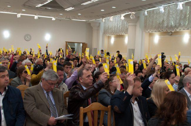 Votare la Congresul de constituire al Partidului Acțiune și Solidaritate(PAS). 15 mai 2016