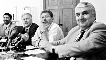 Liderii PPCD, PD, PL și AMN, anul 2007 FOTO: zdg.md
