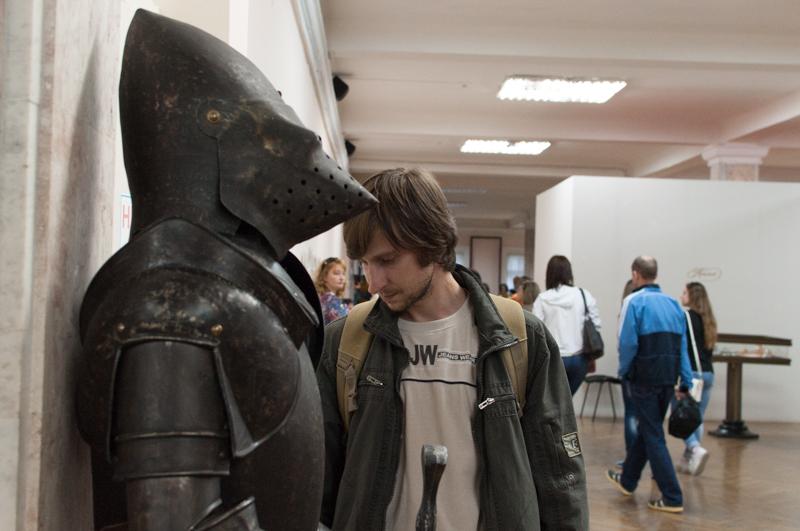 Armură de cavaler medieval. FOTO: Sandu Tarlev