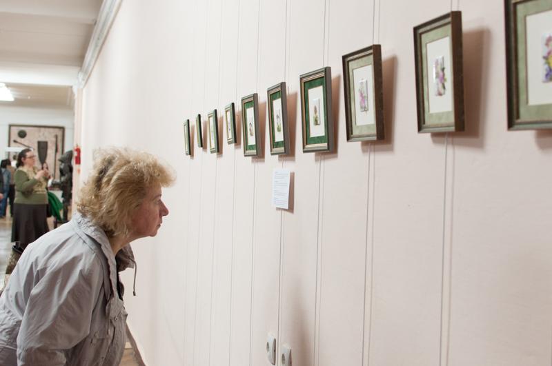 Colecţia de picturi pe porţelan. FOTO: Sandu Tarlev