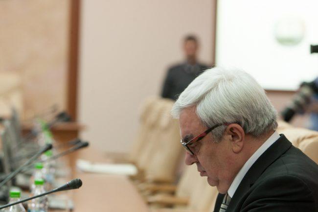 Gheorghe Duca, președintele AȘM, este membru din oficiu al Guvernului de la Chișinău FOTO Sandu Tarlev