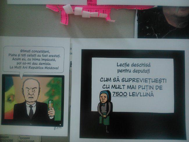 Caricaturile satirizează anumite personaje politice
