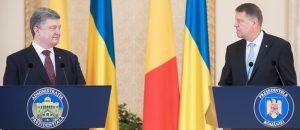 Președintele Ucrainei, Petro Poroșenko (din stânga). Președintele României, Klaus Iohannis Sursa Foto Serviciul de presă a președintelui României