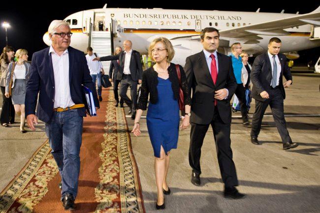 Frank-Walter Steinmeier, pe aeroportul din Chișinău FOTO profil Facebook