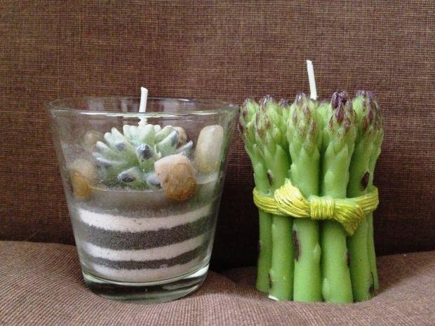 Lumânări decorative cu aromă. Sursa foto.