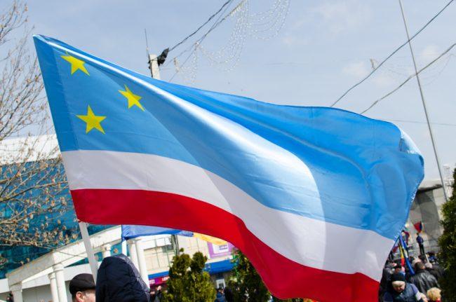 Drapelul UTA Găgăuziei FOTO Sandu Tarlev