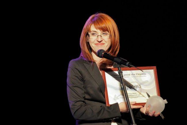 Mariana Rață a fost premiantă la Gala Presei din 2013 FOTO profil Facebook