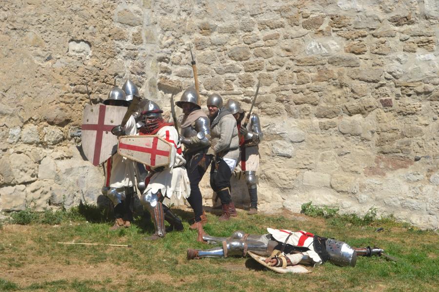 Cavalerii se pregătesc de un atac. FOTO Tatiana Mitrofan
