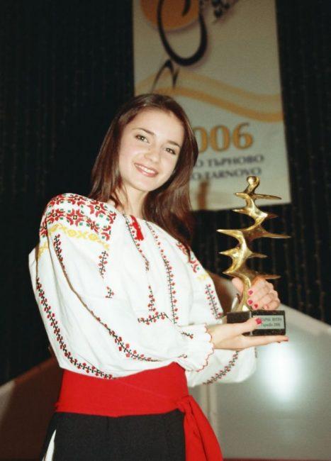 Trofeul obținut la concursul din Bulgaria FOTO Arhiva personală