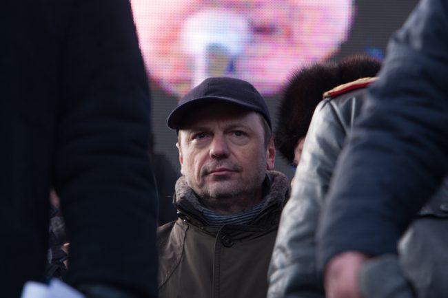 Vasile Năstase s-a implicat activ în protestele din 2015-2016 FOTO Sandu Tarlev