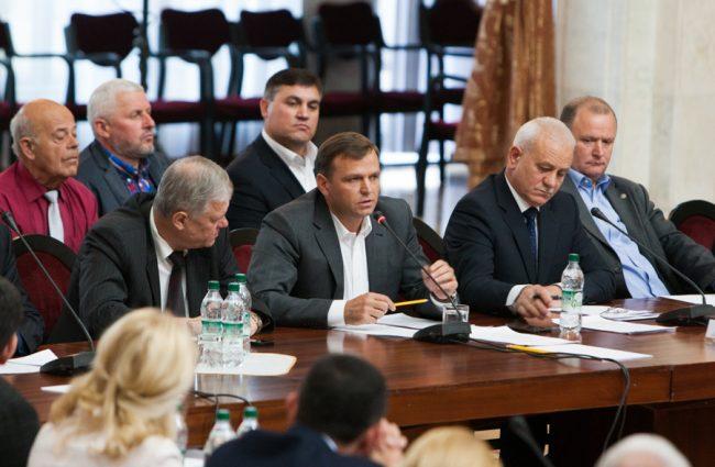 Andrei Năstase la întâlnirea cu liderii AIE, anul 2015 FOTO: Sandu Tarlev