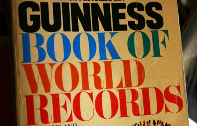 Cartea Recordurilor găzduește mai multe per