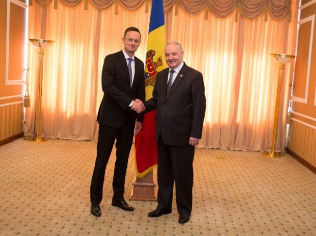Ministrul de Externe al Ungariei, Péter Szijjártó, a efectuat o vizită la Chișinău FOTO: președinție.md
