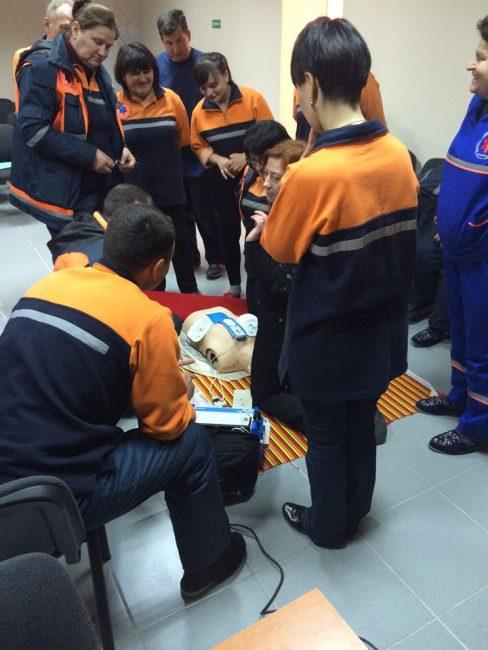 Instruirea angajaților al Centrului Național de Asistență Medicală Urgentă Prespitalicească