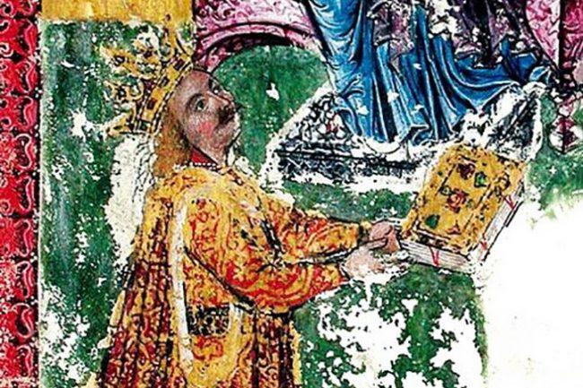 Portretul lui Ștefan cel Mare din Evangheliarul de la Humor. Sursa foto