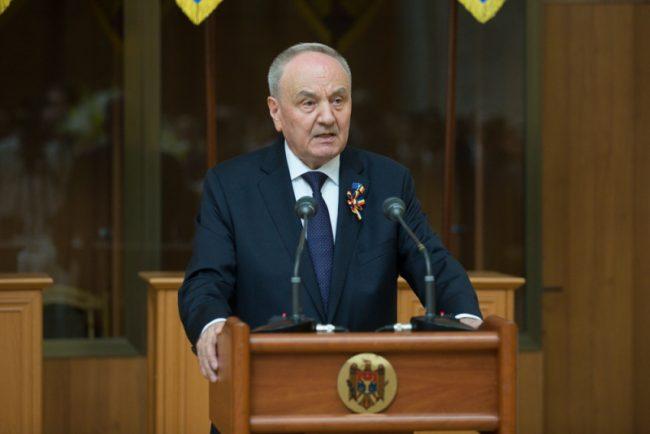 Președintele Nicolae Timofti la recepție cu prilejul aniversării a 25-a a Independenței Republicii Moldova.