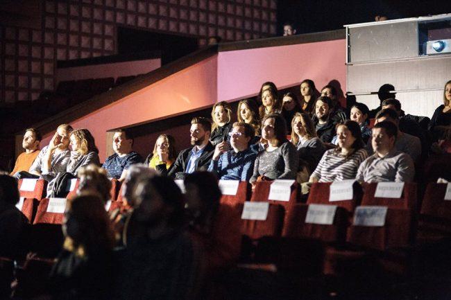 Publicul a fost mic, dar receptiv la prima proiecție din cadrul TIFF. Sursa foto