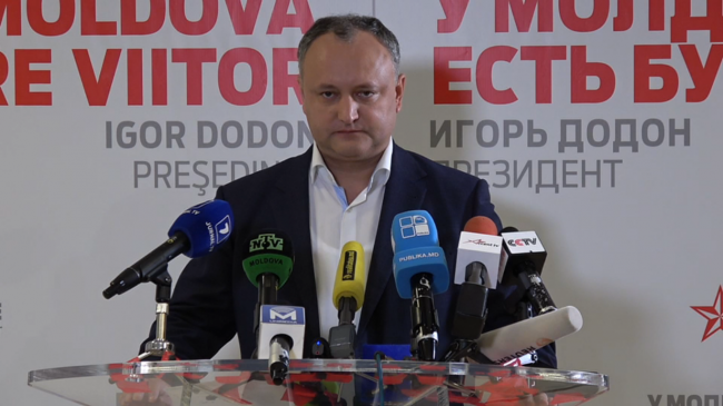 Igor Dodon, liderul PSRM FOTO captură privesc.eu