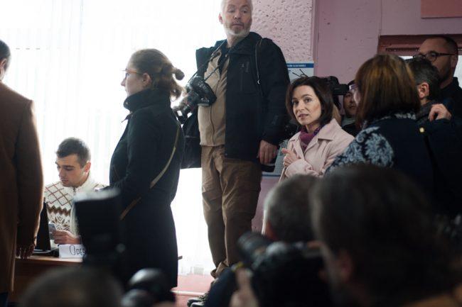 Maia Sandu a obținut la alegeri peste jumătate de milion de voturi FOTO Sandu Tarlev