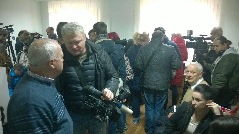 Secția de vot unde este așteptat Igor Dodon. FOTO Ion Surdu