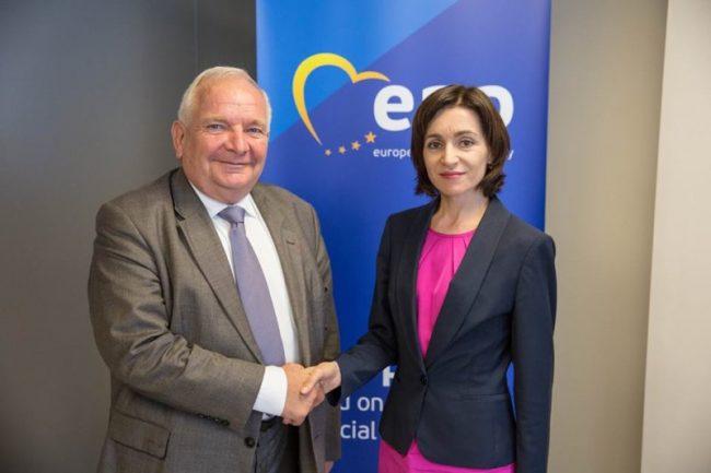 Joseph Daul și Maia Sandu