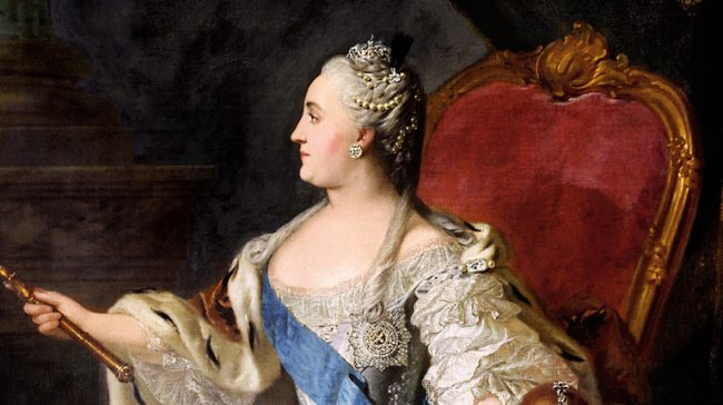 Țarina Ecaterina a II-a care a început amestecul Rusiei în Balcani. Sursa foto