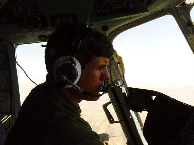 Miroslav Lefter, la bordul aeronavei FOTO Arhva personală