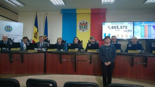 Ședința Comisiei Electorale Centrale la încheierea votului la alegerile prezidențiale din 13 noiembrie  2016. FOTO Ion Surdu