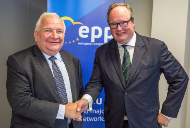 Joseph Daul, președintele PPE, și Hans van Baalen, președintele ALDE Sursa foto