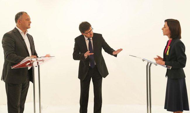 Dezbaterea electorală de la TV7 dintre Maia Sandu și Igor Dodon FOTO profilul de Facebook al liderului PSRM
