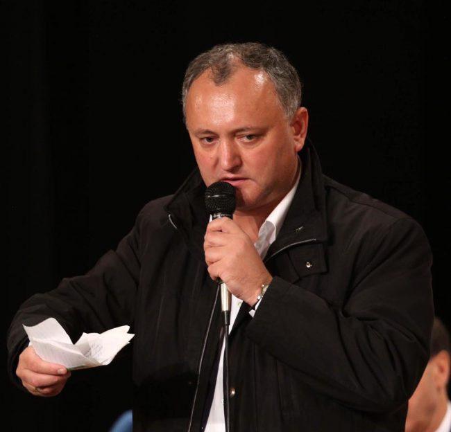 Igor Dodon, președintele PSRM FOTO profil Facebook