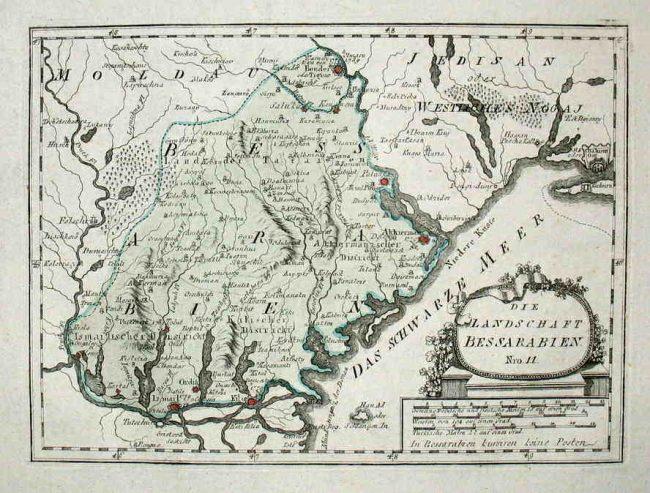 Harta Basarabiei în 1791Sursa foto