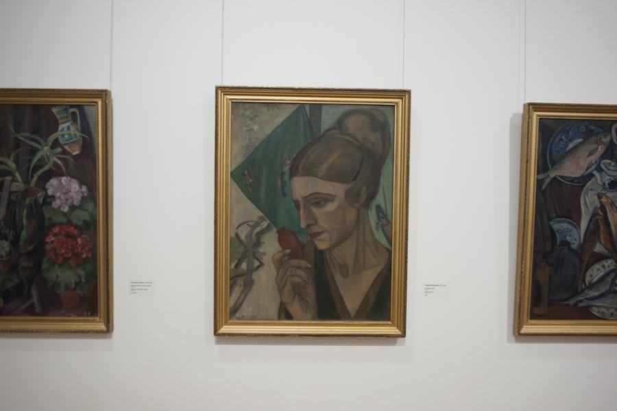 Tablou expus la Muzeul de Artă. FOTO: Sandu Tarlev