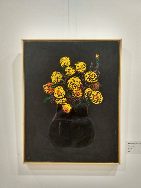 "Compoziția ""Flori mândre"" de Miahi Grecu. FOTO: Arina Crețu"