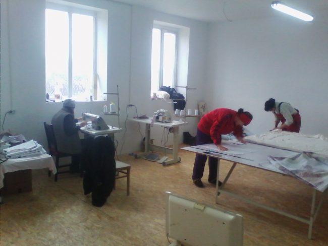 Atelierul unde se fac plapume. FOTO: Arhivă personală