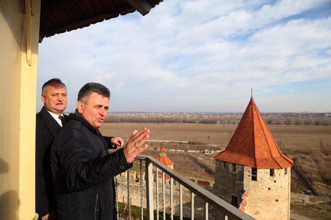 Igor Dodon și Vadim Krasnoselski au vizitat Cetatea Tighina FOTO profil Facebook/Dodon Igor
