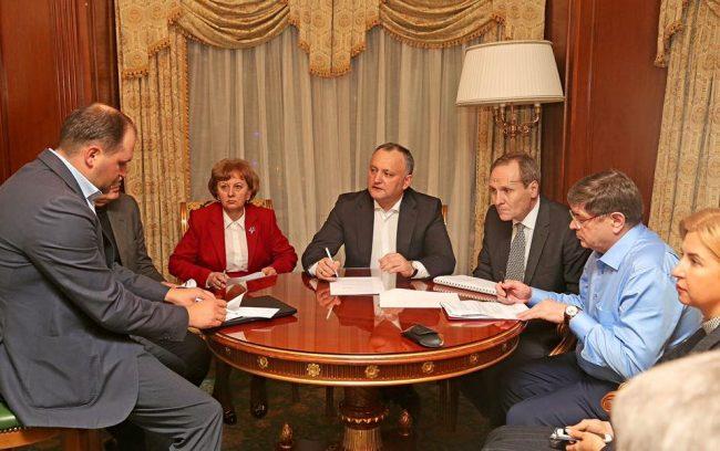 Delegația moldovenească, în frunte cu Igor Dodon, la Moscova, 16 ianuarie FOTO profilul de Facebook al lui Igor Dodon