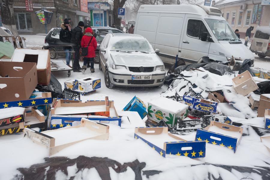 Parcare lângă Piața Centrală FOTO: Sandu Tarlev