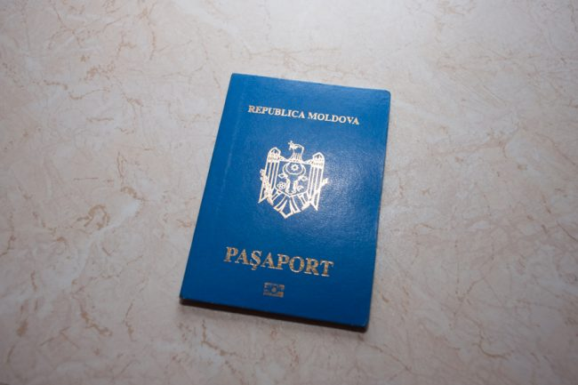 Pașaport moldovenesc FOTO: Sandu Tarlev