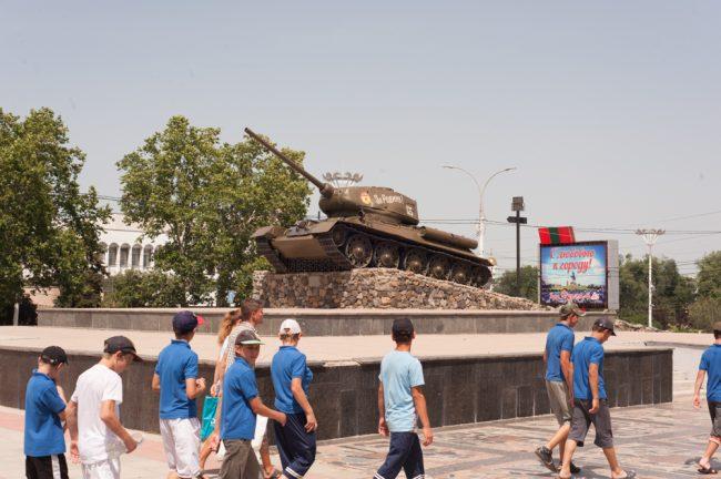 În centrul orașului Tiraspol FOTO: Sandu Tarlev