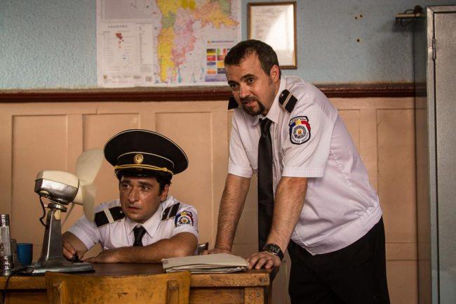 La poliție. FOTO: facebook.com/Afacerea Est